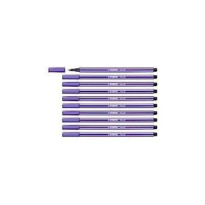 Feutre dessin - STABILO Pen 68 - Lot de 10 feutres pointe moyenne - Violet (68/55)