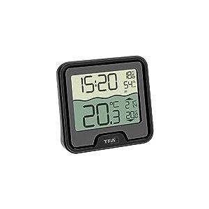 TFA-Dostmann Marbella Thermomètre de Piscine sans Fil Noir