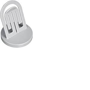 LAUREL - Porte-copies, avec pied métallique, hauteur: 71 mm clip gris élastique, maintient jusqu'à 1
