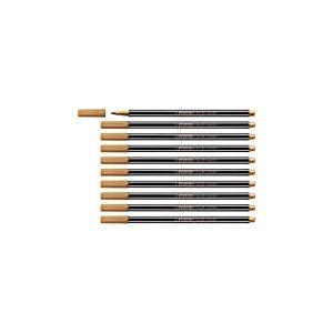 STABILO 68/820 Pen 68 Metallic Lot de 10 Feutres métallisés pointe moyenne Cuivre