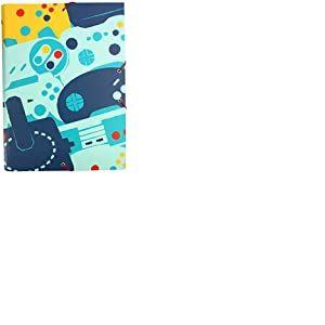 Erik® - Chemise cartonnée à élastique 3 rabats Gamer - Rigide - 24 x 34 cm