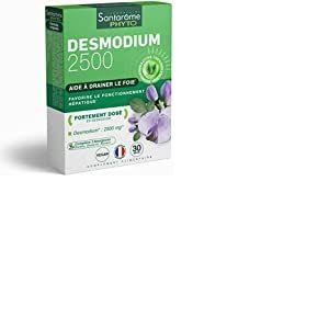 Santarome Bio Desmodium 2500 30 Gélules Complément Alimentaire Détoxifiant du Foie Programme 15 à 30 Jours