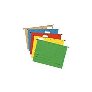 Herlitz 5874656 Chemise suspendue Format A4 Carton kraft 230 g/m² Plusieurs coloris Lot de 5 (Import Allemagne)