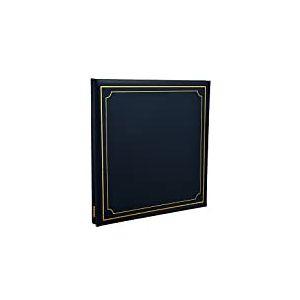 ARPAN Album Photo Auto-adhésif Extra-Large 32 x 26 cm 24 Feuilles 48 côtés Aspect Cuir Couverture rembourrée Bleu 33,8 x 3 x 33,2 cm