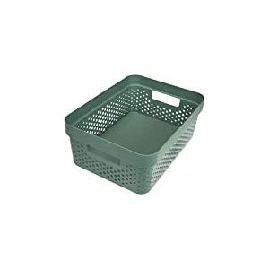 CURVER | Bac Infinity 11L Dots - Plastique recyclé, Vert, Crates, 35,6x26,6x13,6 cm