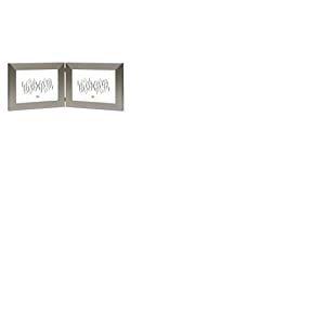 Deknudt Frames S41VD1 H2H Cadre Photo Diptyque Horizontal Résine Argenté 15 x 20 cm