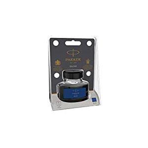 Parker Quink Bouteille d'encre liquide pour stylo plume, 57ml, sous blister Emballage blister bleu/noir