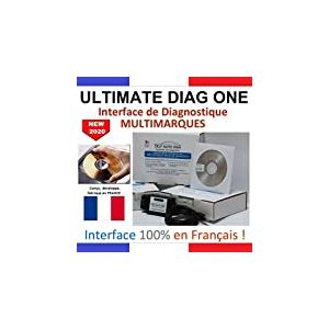 ULTIMATE DIAG ONE - Interface de diagnostic MULTIMARQUES - Version CD-ROM - Valise diagnostique auto multimarque en francais de SELF AUTO DIAG