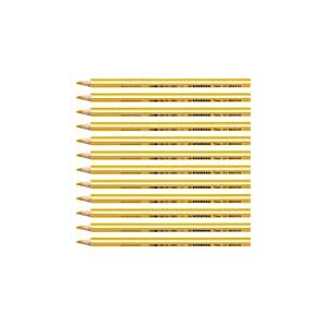 STABILO Trio thick - Lot de 12 crayons de couleur triangulaires - Jaune orangé