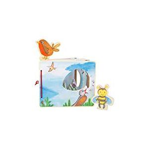 Small Foot- d'Images « L'Univers des airs interactif » en Bois, certifié 100% FSC, Forme et Taille des Pages du Livre Jouets, 11217, Multicolore