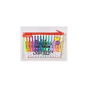 Surligneur - STABILO swing cool - Trousse 14 Surligneurs - Coloris Fluo et Pastel Assortis - Édition Limitée