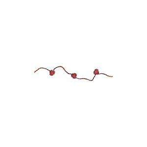 Star Viola-Battery Guirlande LED 10 fleurs rouges LED rouges à piles Câble transparent Boîte à fenêtre, 1,35 m