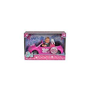 Simba - Evi Love Beetle - Mini Poupée 12cm - Cabriolet et Chien + 4 Accessoires Inclus - 105731539