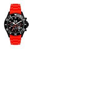 Ice-Watch - ICE Chrono Black Red - Montre rouge pour homme avec bracelet en silicone - 013706 (Large)