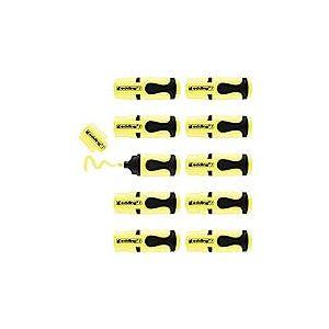 edding 7 Mini-surligneur - jaune pastel - 10 surligneurs - pointe biseautée 1-3 mm - petits surligneurs aux couleurs tendance - pour les bullet journals, l'école, l'université ou le bureau
