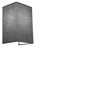 HARPER LIVING 1 Applique murale avec interrupteur Tissu Haute Qualité 25,5 cm x 16 cm x 13,5 cm Idéal pour le salon, le couloir, la chambre (gris)