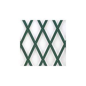 Tenax Treillis extensible en PVC pour support mural de fleurs et plantes grimpantes Vert 0,5 x 2 m