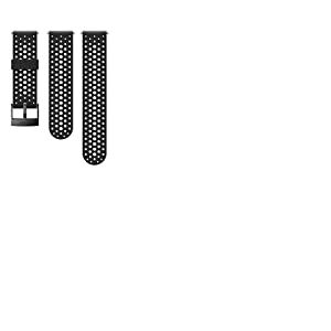 Suunto Bracelet de remplacement Original pour les Montres Suunto Spartan Sport WRH, Suunto 9, Silicone, Longueur : 22,9 cm, Largeur : 24 mm, Noir/Noir, avec Broches de fixation, SS050225000