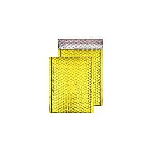 Purely Packaging Lot de 100 enveloppes à bulles avec bande adhésive Doré/métallisé 32,4 x 23cm C4+