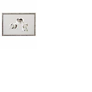 Deknudt Frames - S45RH7M - Cadre Photo Panneau - Magnétique - 10 Aimants - Gris/Beige - 40 x 60 cm