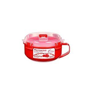 4EverSpiel SI1112 Micro-Ondes Bol de céréales to Go en Rouge, Plastique, 45x35x25 cm