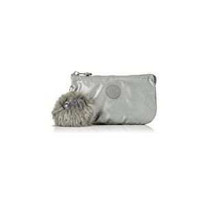 Kipling Creativity L, Porte-monnaie femme, Gris (Metallic Stony)