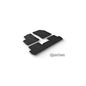 Set tapis de caoutchouc Peugeot 3008 9/2016- (T profil 5-pièces + clips de montage)
