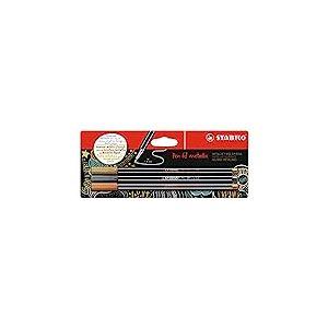 Feutre métallisé - STABILO Pen 68 metallic - Pack 3 feutres métallisés pointe moyenne - Or / argent / cuivre