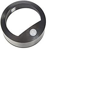 Voltman DIO065060 DIO065060-Applique extérieure-Ronde-Noir-Détecteur de mouvement-50 Lm-6500 K-IP44-à Piles