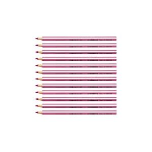 Stabilo Trio Crayon de couleur triangulaire Rose Lot de 12