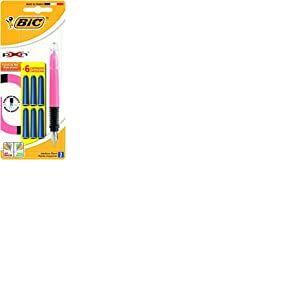 Bic X-pen Stylo plume et 6 cartouches - Modèle aléatoire