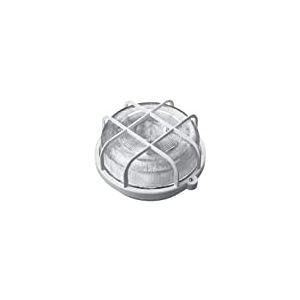 Voltman DIO065042 Éclairage de Plafond Hublot Rond Grille Plastique E27 Blanc 100 W