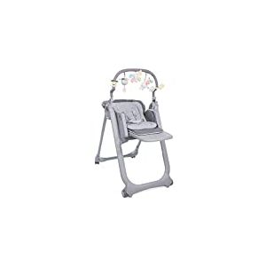 Chicco Chaise Haute Bébé Polly Magic Relax 4 Roues Graphite
