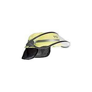 Idena - 8040005 Casque de Pompier pour Enfant avec visière Rabattable et voilette au Niveau de la Nuque