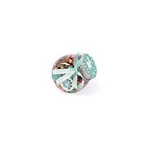 Janod - Birdy - Coffret 220 Perles en Bois Enfants, 12 Charms Inclus - Paons, J06670