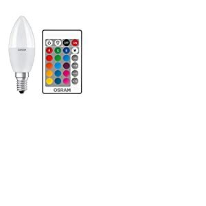 OSRAM Lot de 4 x Ampoule LED | Culot: E14 | Blanc chaud | 2700 K | 5,50 W | équivalent à 40 W | LED Retrofit RGBW avec télécommande