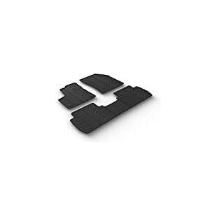 Set tapis de caoutchouc Peugeot 5008 5/2017- (T profil 5-pièces + clips de montage)