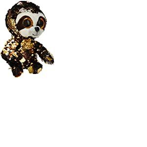 Ty- Flippables Small-Peluche Sequins Dangler Le Paresseux 15cm, TY36668, Multicolore