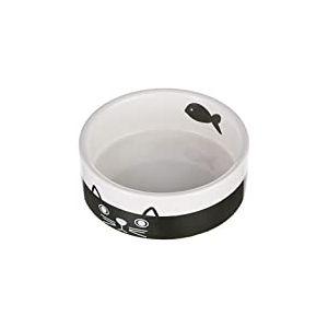 Nobby Face Gamelle en céramique pour Chat Noir/Blanc Ø 12,0 x 4,5 cm