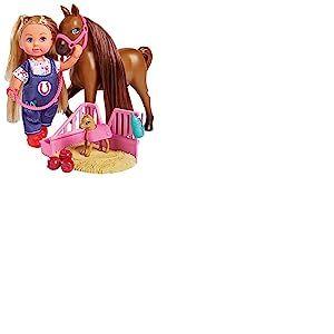 Simba Evi Love Doktor Evi 105733487 - Evi vétérinaire - avec Cheval et Poulain en Gestation - avec Espace de Couchage et Accessoires - 12 cm - pour Les Enfants à partir de 3 Ans