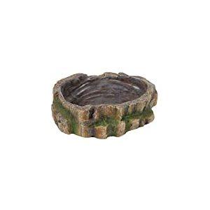 Trixie Reptile Décoration de forêt tropicale d'eau et de nourriture Bol, 18x 4.5x 17cm