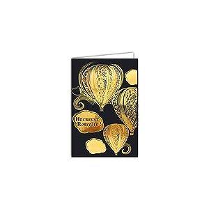 Afie 69-7054 Carte Retraite montgolfière avec dorure format 12 x 17,5 cm avec enveloppe Blanc