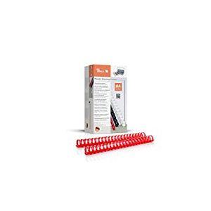 Peach pb432-03Reliure, reliure plastique, format A4, capacité de reliure 310pages Rouge Lot de 50