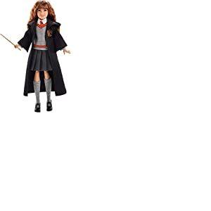 Harry Potter Poupée articulée Hermione Granger de 24 cm en uniforme Gryffondor en tissu avec baguette magique, à collectionner, jouet enfant, FYM51