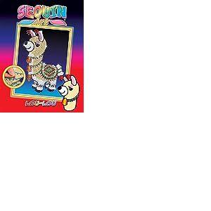 Sequin Art- Kit de Loisirs Creatifs pour Les Enfants, Lou la Llama, Créez Une Magnifique Oeuvre Colorée avec des Paillettes Brillantes, 5013-1801, Multicolore
