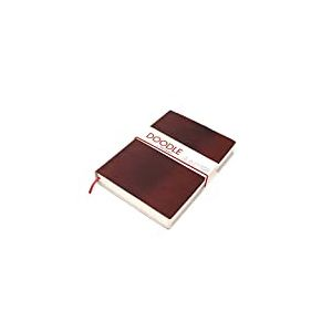 Artway Doodle - Carnet à dessin/journal - papier cartouche - couverture douce en cuir véritable - 150 g/m² - 82 pages - 175 x 125 mm - noisette