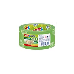 tesa Emballer Ruban de fermeture Eco & Strong vert imprimé 66m x 50mm