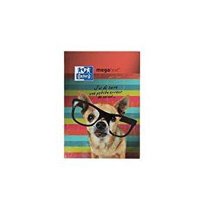 OXFORD 100738391 Funny Pets - Cahier de Textes Megatext® 2019-2020 rembordé rigide 224 pages 15x21 cm Chien