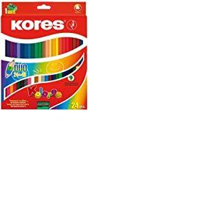 Kores Paquet de 48 crayons de couleur triangulaires