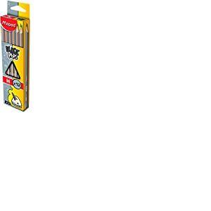 Maped 850021 Black'Peps Crayons graphite HB GRADE H
